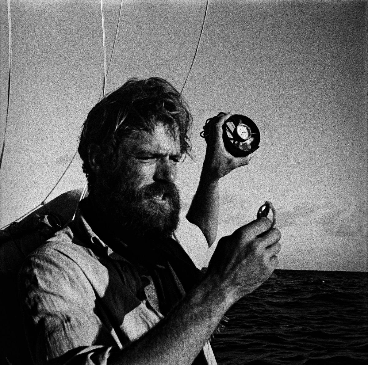 Thor Heyerdahl z zegarkiem KonTiKi