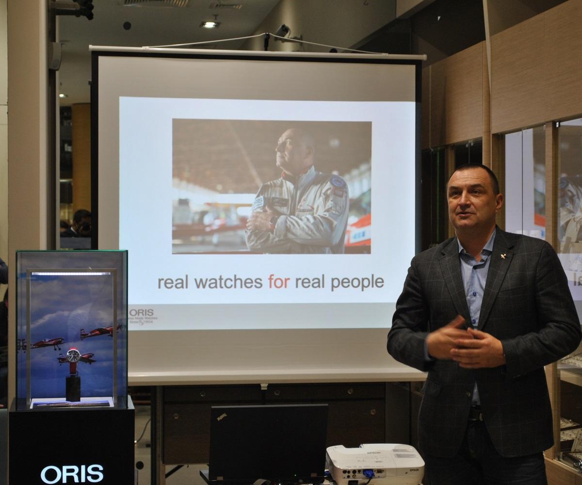 Konferencja prasowa i Oris Pro Pilot Żelazny 2 i konkurs Oris i salonu odczasu doczasu