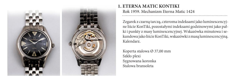 Zegarki Eterna Matic KonTiki 1424 na wystawie w salonie odCzasu doCzasu