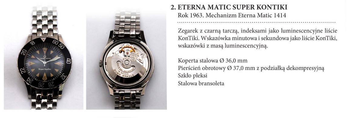 Zegarek Eterna Matic Super KonTiki 1414 na wystawie w salonie odCzasu doCzasu