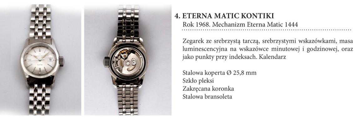 Zegarek Eterna Matic KonTiki 1444 na wystawie w salonie odCzasu doCzasu