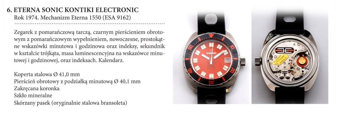 Zegarek Eterna Sonic KonTiki Electronic na wystawie w salonie odCzasu doCzasu