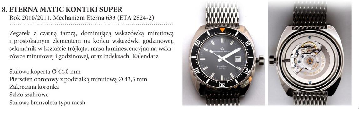 Zegarek Eterna Matic Super KonTiki 633 na wystawie w salonie odCzasu doCzasu