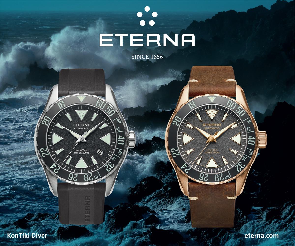 Plakat zegarków Eterna z serii KonTiki