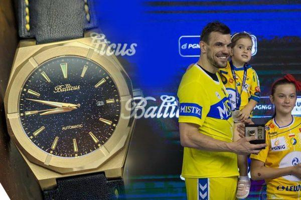 Michał Jurecki z zegarkiem Balticus
