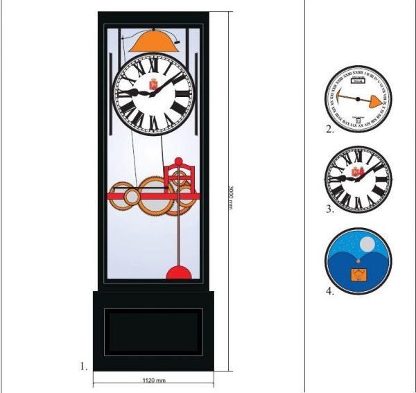 Schemat zegara na Sadybie