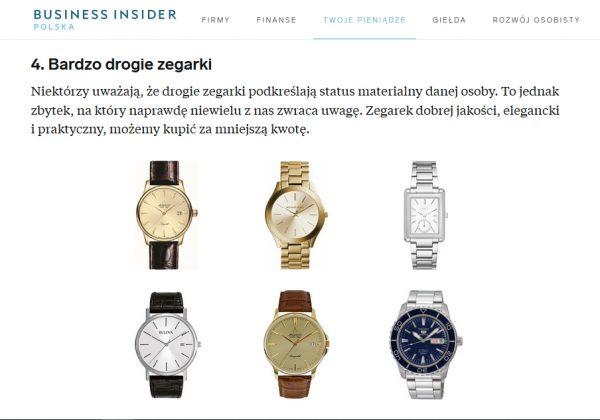 Business Insider o zegarkach