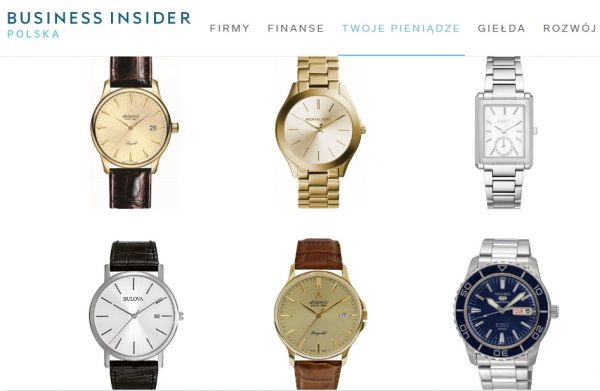 Reklama zegarków