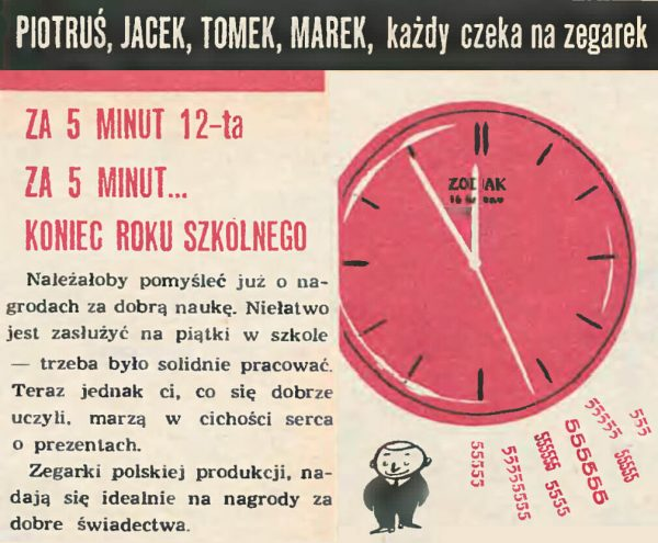 Zegarek Błonie w nagrodę