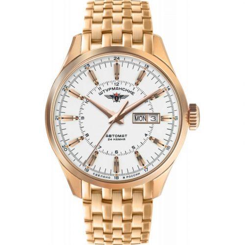 zegarek rosyjski szturmanskie Sputnik na bransolecie złotej