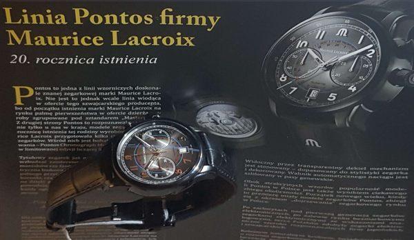 Pontos Chronograph Monopusher marki Maurice Lacroix na 20. rocznicę istnienia linii wzorniczej