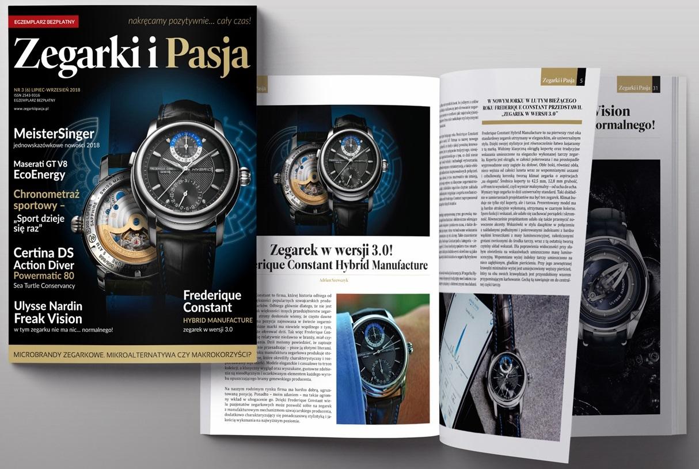 Okładka magazynu Zegarki i Pasja