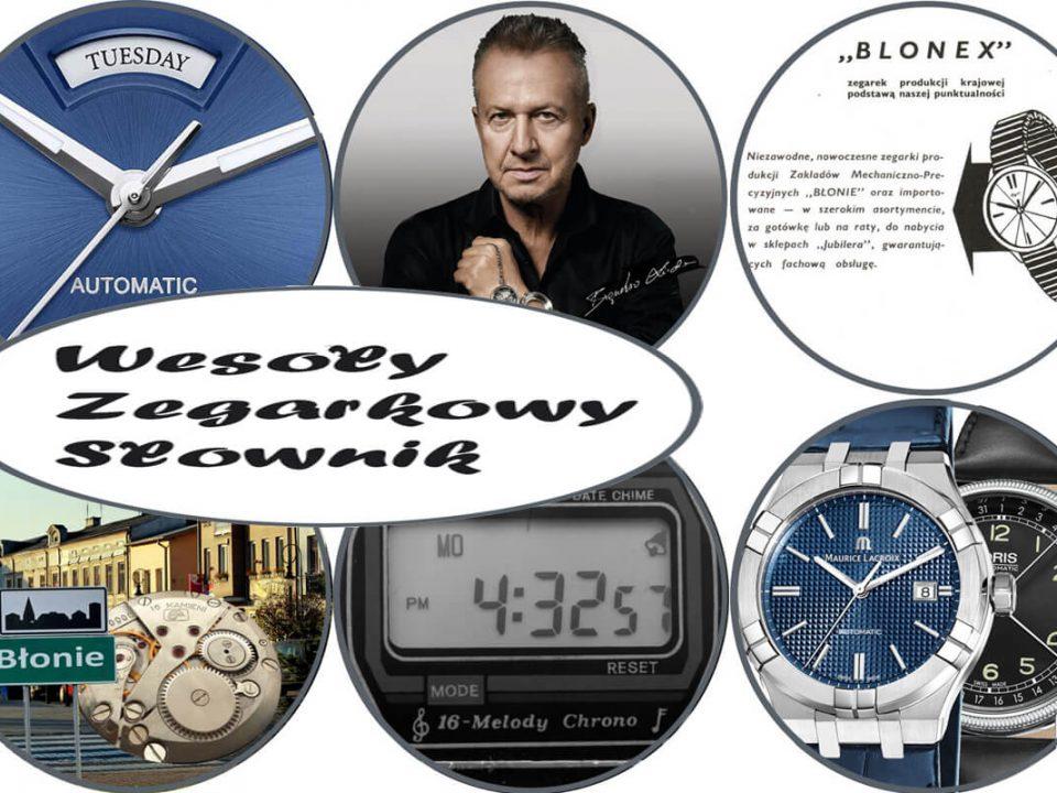 prezentacja tematów w wesołym słowniku zegarkowym