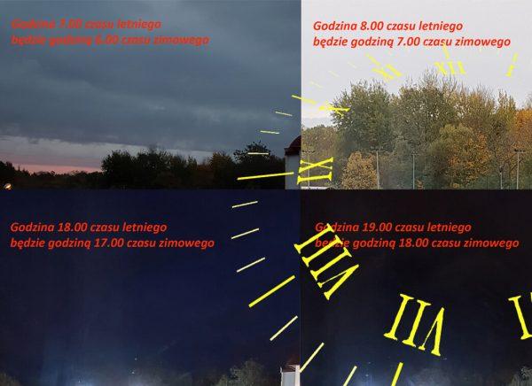 Kolaż zdjęć przedstawiających efekty zmiany czasu