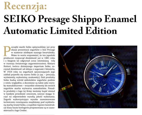 Seiko w magazynie Zegarki i Pasja