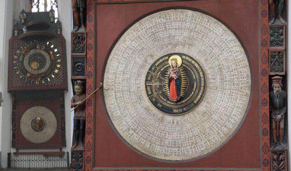 Zegar Hansa Duringera w Kościele Mariackim w Gdańsku.