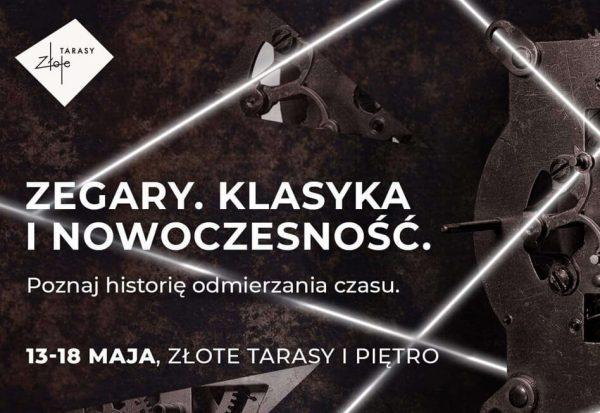 Wystawa zegarów QlockTwo w Złotych Tarasach