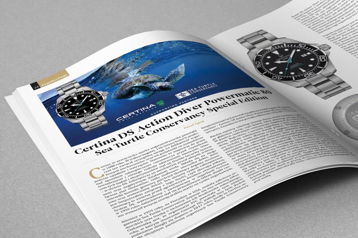 Artykuł o zegarkach marki Certina w magazynie Zegarki i Pasja