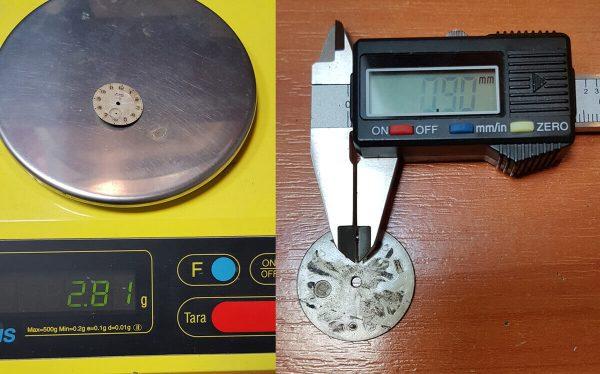 Tarcza zegarka mechanicznego