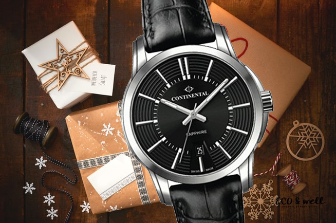 Zegarek męski Continental na czarnym pasku