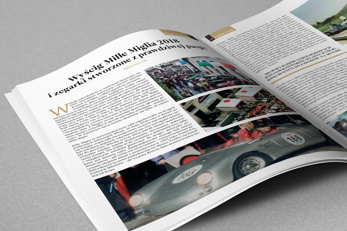 Artykuł o wyścigu Mille Miglia 2018 w magazynie Zegarki i Pasja