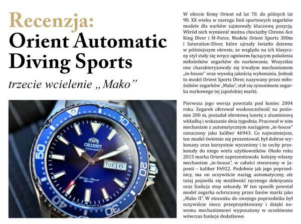 Orient Automatic w Zegarki i Pasja