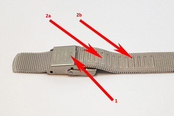 """Regulacja długości bransolety typu """"mesh"""""""