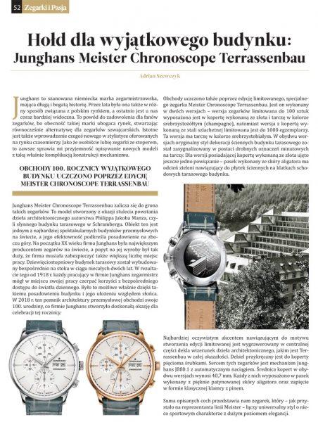 Artykuł o siedzibie marki zegarków Junghans w magazynie Zegarki i Pasja