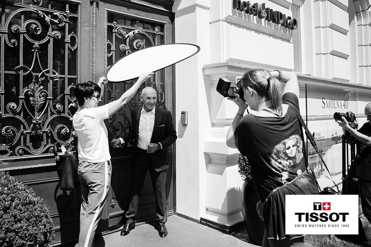 Sesja zdjęciowa dla Tissot, w której brał udział Czesław Lang