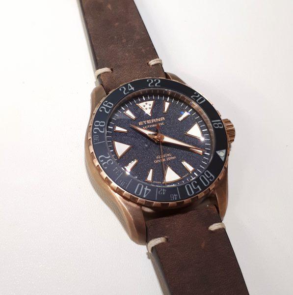 tarcza ze skalą bezdekompresyjną - zegarek Eterna KonTiki