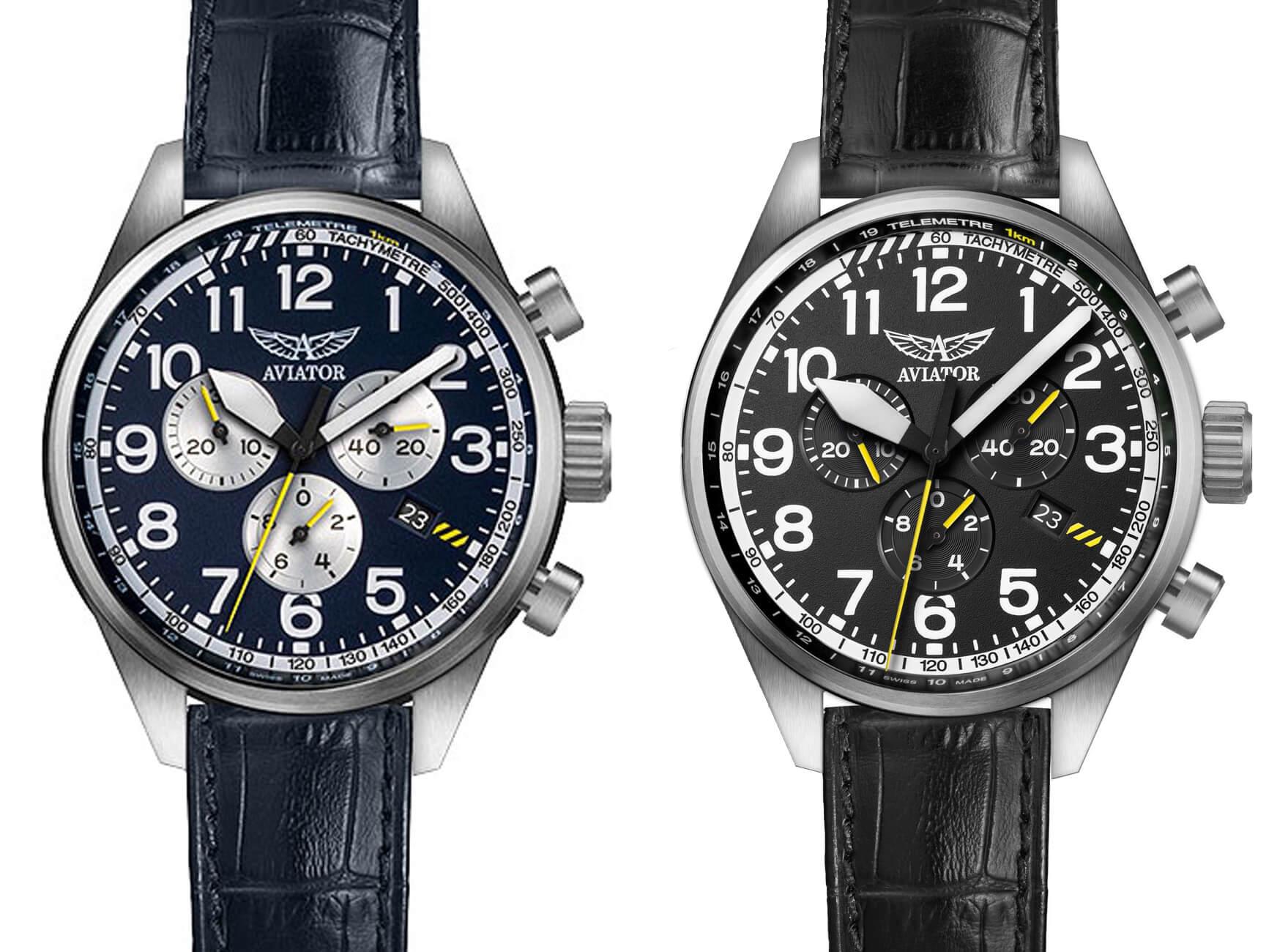 Zegarki Aviator Airacobra P45 w różnych wariantach kolorystycznych