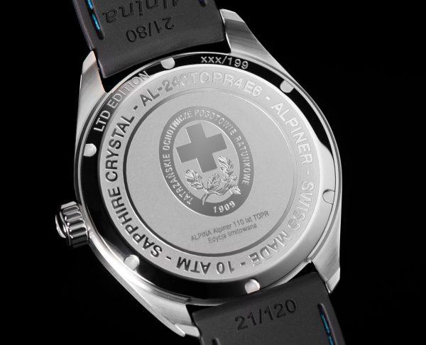 Wieczko zegarka Alpina TOPR
