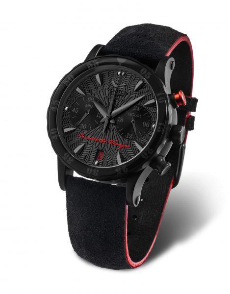 Zegarek Vostok Europe Benedictas Vanagas z czarną tarczą