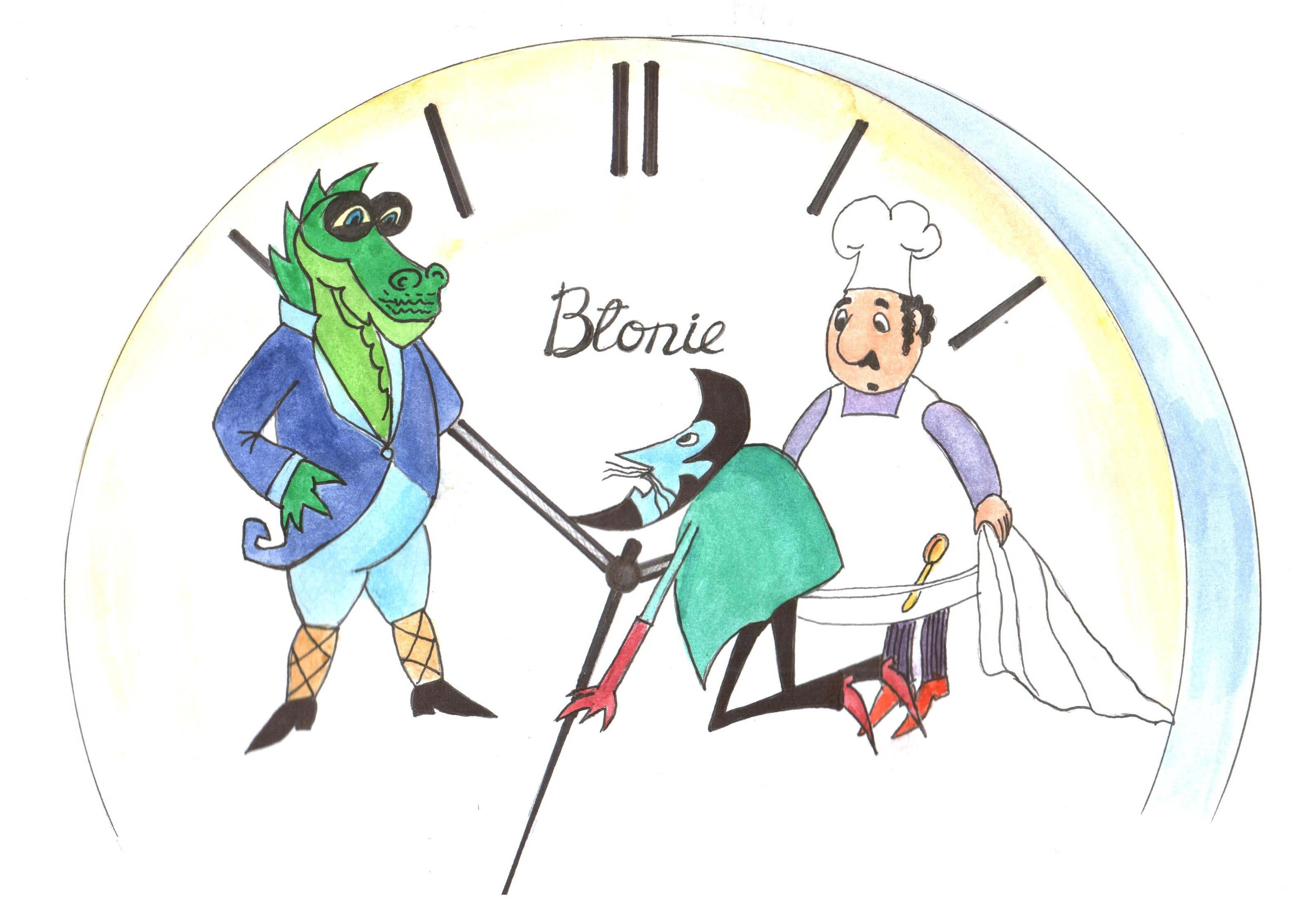 """""""Poznaję – krzyknął Smok – to zegarek marki """"Błonie"""", robiony w Grodzie Kraka. To zegarek Profesora!"""""""