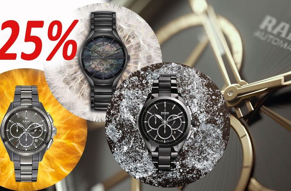 Niezwykła zegarkowa oferta – wyprzedaż zegarków RADO