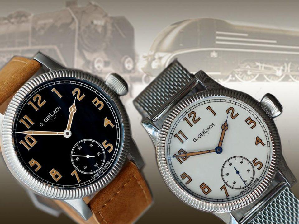 Kolejowy zegarek G.Gerlach - Piękna Helena