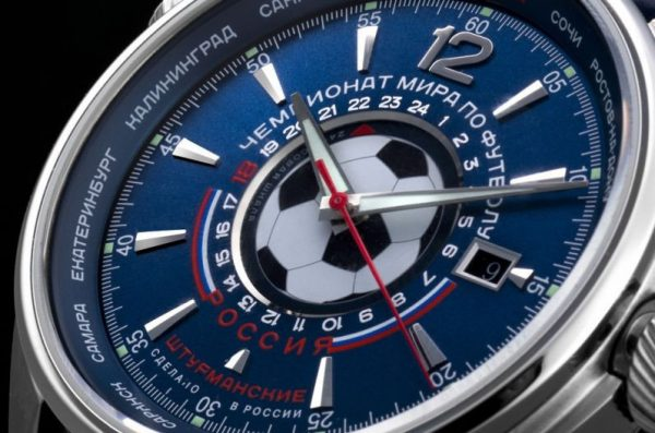 tarcza zegarka zegarek Sturmanskie Gagarin Special Edition Football